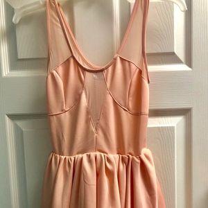 Light Pink Xenia Boutique Mesh Dress